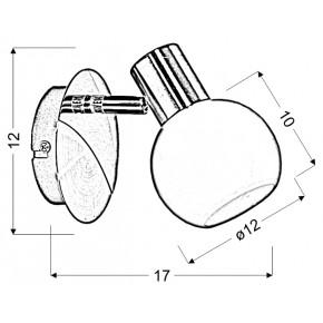 Kinkiety - elegancka lampa ścienna złoto-biała 1x40w e14 avila 91-07100 candellux