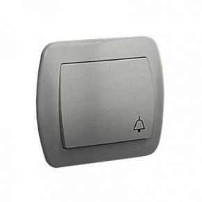 Srebrny przycisk dzwonek AD1/26 Simon Akord Kontakt Simon