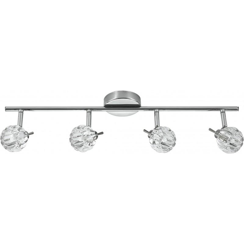 Lampy-sufitowe - poczwórna listwa oświetleniowa chromowa 4x40w g9 bombola 94-70319 candellux firmy Candellux