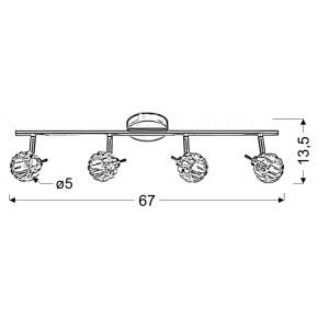 Lampy-sufitowe - poczwórna listwa oświetleniowa chromowa 4x40w g9 bombola 94-70319 candellux