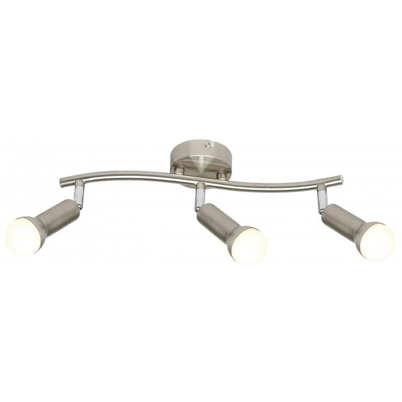 Lampy-sufitowe - trzypunktowy spot oświetleniowy w kolorze satynowym 3x40w e14 arc 93-63465 candellux firmy Candellux