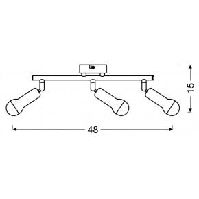 Lampy-sufitowe - trzypunktowy spot oświetleniowy w kolorze satynowym 3x40w e14 arc 93-63465 candellux