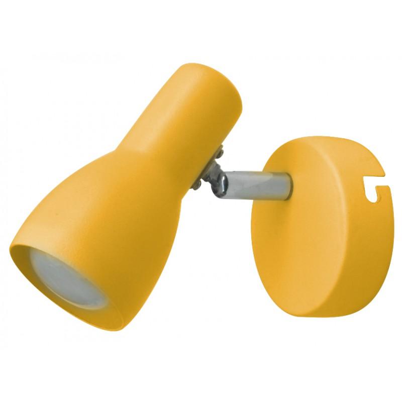Kinkiety - kinkiet musztardowy żółty pojedynczy e14 91-52391 picardo candellux firmy Candellux