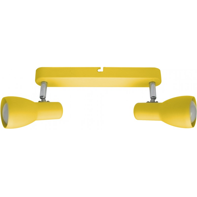 Oprawy-sufitowe - oprawa sufitowa podwójna żółta 2x40w e14 picardo 92-52407 candellux firmy Candellux