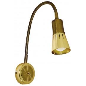 ARENA LAMPA KINKIET WYSIĘGNIK 1*40W R50 E14 ZŁOTO PATYN