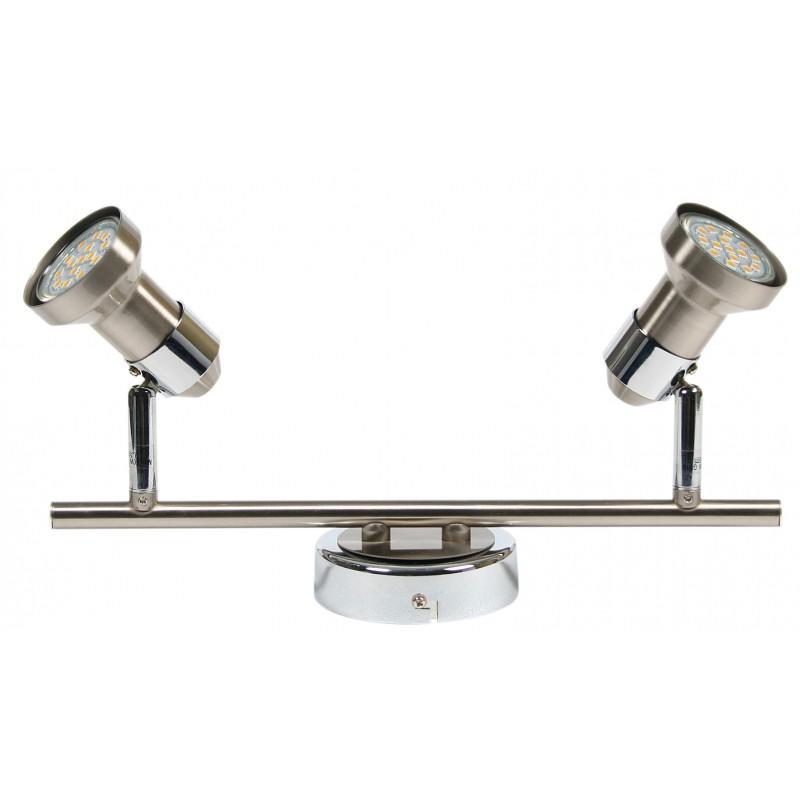 Lampy-sufitowe - chromowy spot oświetleniowy podwójny 2x50w gu10 arkon 92-59581 candellux firmy Candellux
