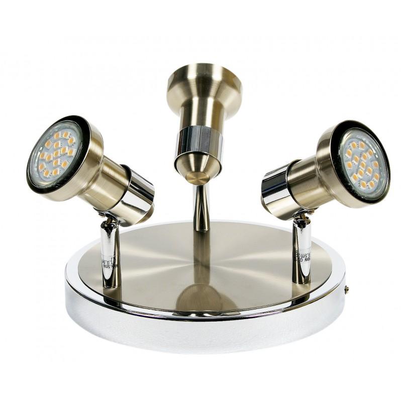 Plafony - potrójny plafon chromowo - satynowy  3x50w gu10 arkon 98-60051 candellux firmy Candellux