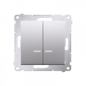 Włącznik świecznikowy z podświetleniem LED do wersji IP44 srebrny mat DW5BL.01/43 Simon 54 Kontakt-Simon