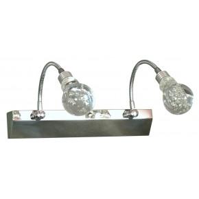 ACRYLIC LED LAMPA KINKIET 2X2W LED CHROM TRANSPARENT