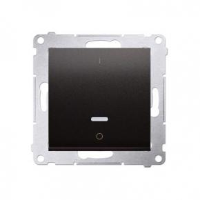 Włącznik dwubiegunowy z podświetleniem LED antracyt DW2L.01/48 Simon 54 Kontakt-Simon