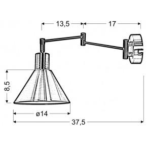 Kinkiety - kinkiet patynowy na ruchomym wysięgniku copenhagen 21-41210 candellux