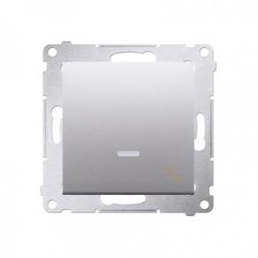Włącznik schodowy z podświetleniem LED srebrny mat DW6L.01/43 Simon 54 Kontakt-Simon