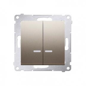 Włącznik świecznikowy z podświetleniem LED do wersji IP44 złoty mat DW5BL.01/44 Simon 54 Kontakt-Simon