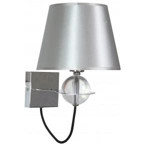 TESORO LAMPA KINKIET 1X40W E14 SREBRNY