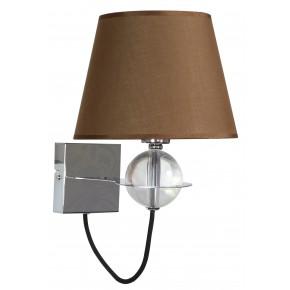 TESORO LAMPA KINKIET 1X40W E14 BRĄZOWY
