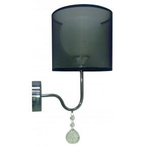 Kinkiety - elegancki kinkiet z dekoracyjnymi kryształkami d-22 1x60w e27 brava 21-26552 candellux