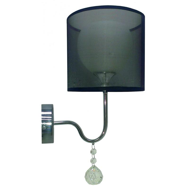Kinkiety - elegancki kinkiet z dekoracyjnymi kryształkami d-22 1x60w e27 brava 21-26552 candellux firmy Candellux