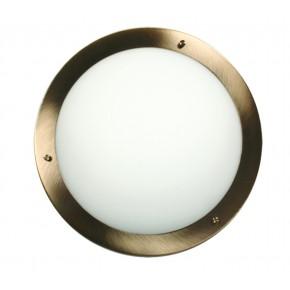 AQUILA LAMPA SUFITOWA PLAFON 18 1X40W G9 PATYNA IP44 (BŻ)