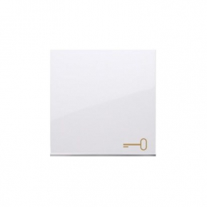 Biały klawisz pojedynczy z piktogramem klucza do łączników i przycisków DKWK1/11 Simon 54 Kontakt-Simon