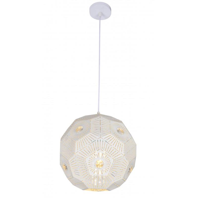 Lampy-sufitowe - biała lampa wisząca sufitowa na żarówkę e27 euphoria 31-69689 candellux firmy Candellux