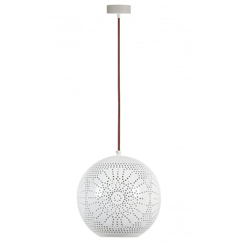 Lampy-sufitowe - lampa wisząca o ażurowym kloszu - kula 1x60w e27 bene 31-70586 candellux firmy Candellux