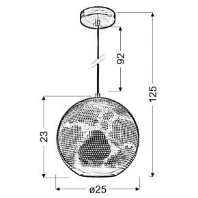 Lampy-sufitowe - lampa wisząca o ażurowym kloszu - kula 1x60w e27 bene 31-70586 candellux