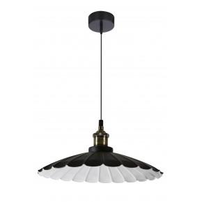Lampy-sufitowe - czarna lampa wisząca w stylu retro 34 1x60w e27 flam 31-56337 candellux
