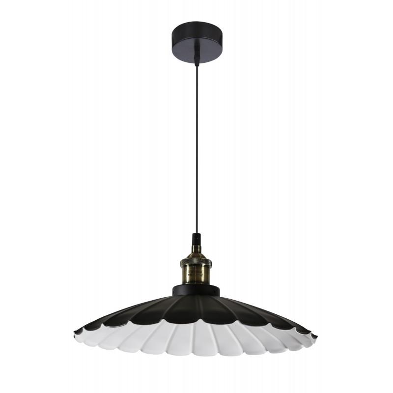 Lampy-sufitowe - czarna lampa wisząca w stylu retro 34 1x60w e27 flam 31-56337 candellux firmy Candellux