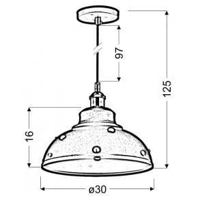 Lampy-sufitowe - oświetlenie wiszące z patynowymi elementami dekoracyjnymi 30 1x40w e27 scrimi 31-57662 candellux