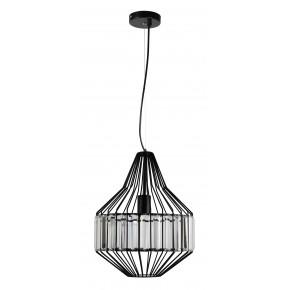 Lampy-sufitowe - czarna metalowa lampa wisząca na żarówkę e27 alvaro 31-55163 candellux