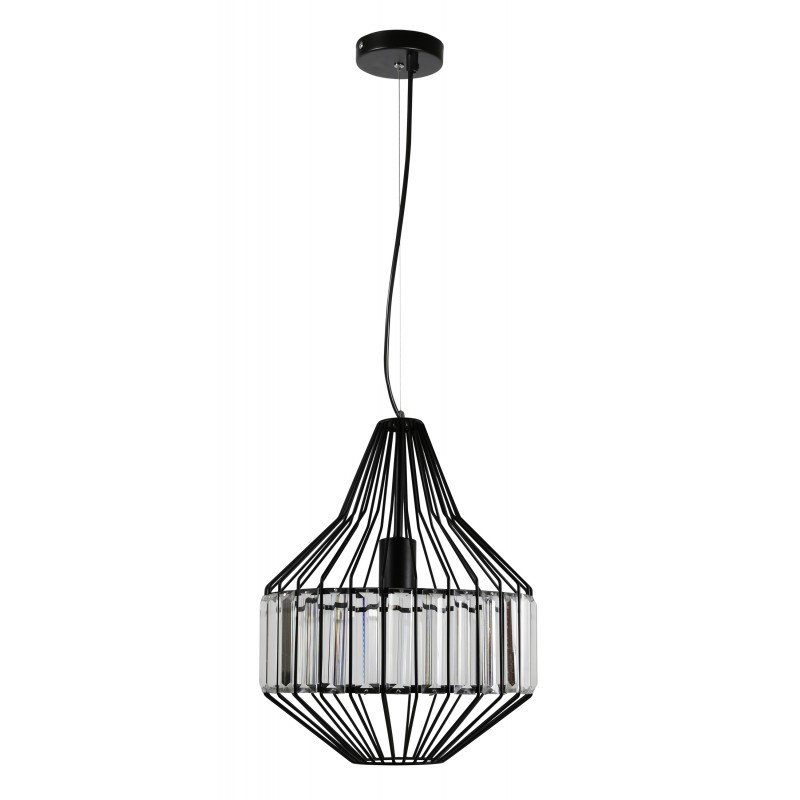 Lampy-sufitowe - czarna metalowa lampa wisząca na żarówkę e27 alvaro 31-55163 candellux firmy Candellux