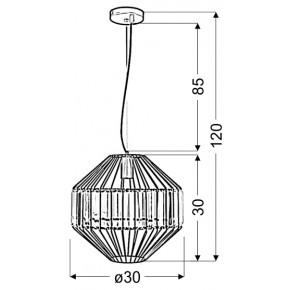Lampy-sufitowe - wisząca lampa sufitowa czarna z metalowym kloszem e27 alvaro 31-55170 candellux