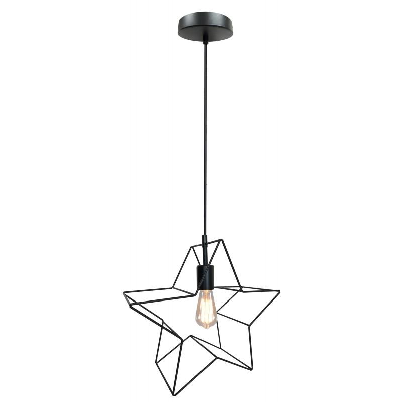 Lampy-sufitowe - wisząca lampa sufitowa w kształcie gwiazdki czarna gwiazdka 31-64080 candellux firmy Candellux