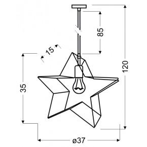 Lampy-sufitowe - wisząca lampa sufitowa w kształcie gwiazdki czarna gwiazdka 31-64080 candellux