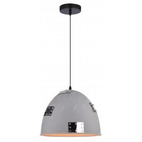 PATCH LAMPA WISZĄCA 30 1X60W E27 SZARY + CHROMOWANY DEKOR