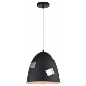 PATCH LAMPA WISZĄCA 29 1X60W E27 CZARNY + CHROMOWANY DEKOR