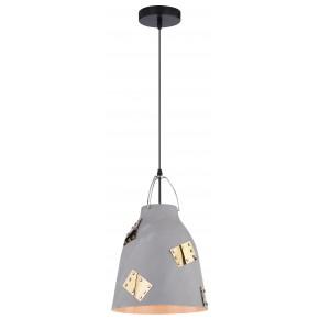 PATCH LAMPA WISZĄCA 25 1X60W E27 SZARY + ZŁOTY DEKOR