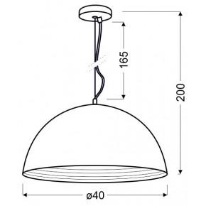 Lampy-sufitowe - lampa wisząca miedziana o średnicy 40cm 1x60w e27 amalfi 31-26392 candellux