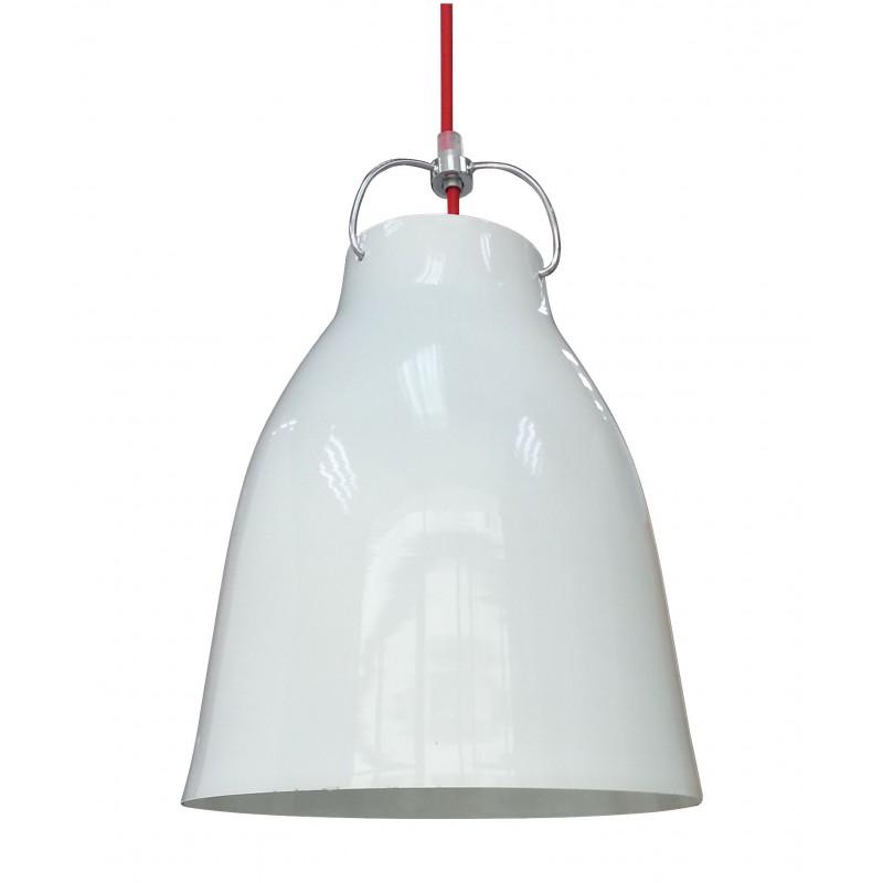 Lampy-sufitowe - metalowa lampa wisząca w kolorze biało-czerwonym 1 25 1x60w e27 pensilvania 31-20253 candellux firmy Candellux