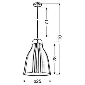 Lampy-sufitowe - metalowa lampa wisząca w kolorze biało-czerwonym 1 25 1x60w e27 pensilvania 31-20253 candellux