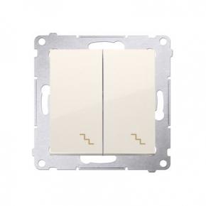 Włącznik schodowy podwójny z podświetleniem LED kremowy DW6/2L.01/41 Simon 54 Kontakt-Simon