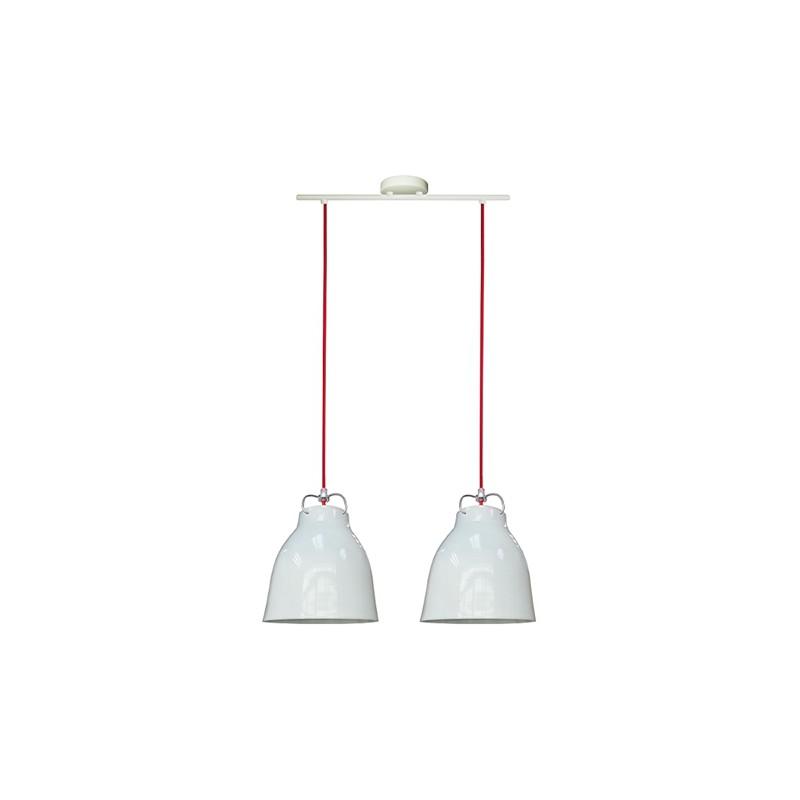 Lampy-sufitowe - oświetlenie sufitowe metalowe biało-czerwone 20 2x60w e27 pensilvania 32-35813 candellux firmy Candellux