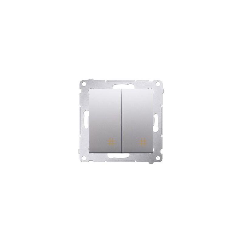Włącznik krzyżowy podwójny srebrny mat DW7/2.01/43 Simon 54 Kontakt-Simon