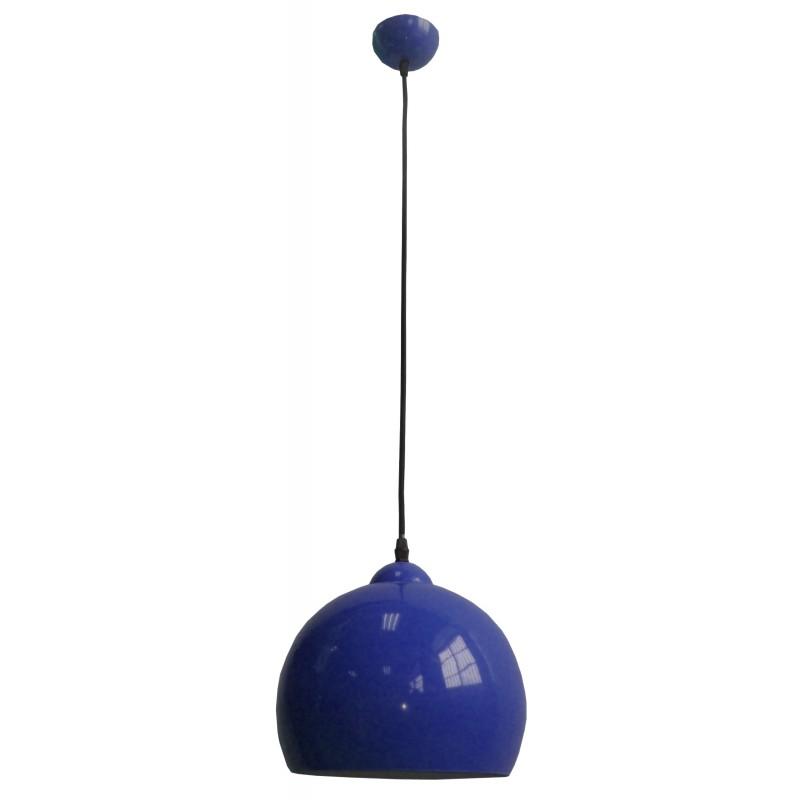 Lampy-sufitowe - chabrowa lampa wisząca metalowa półkula 91-96657 student candellux firmy Candellux
