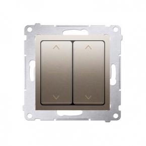 Włącznik żaluzjowy podwójny trój-pozycyjny (1-0-2) złoty mat DZW2.01/44 Simon 54 Kontakt-Simon