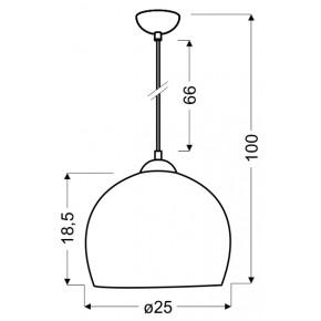 Lampy-sufitowe - chabrowa lampa wisząca metalowa półkula 91-96657 student candellux