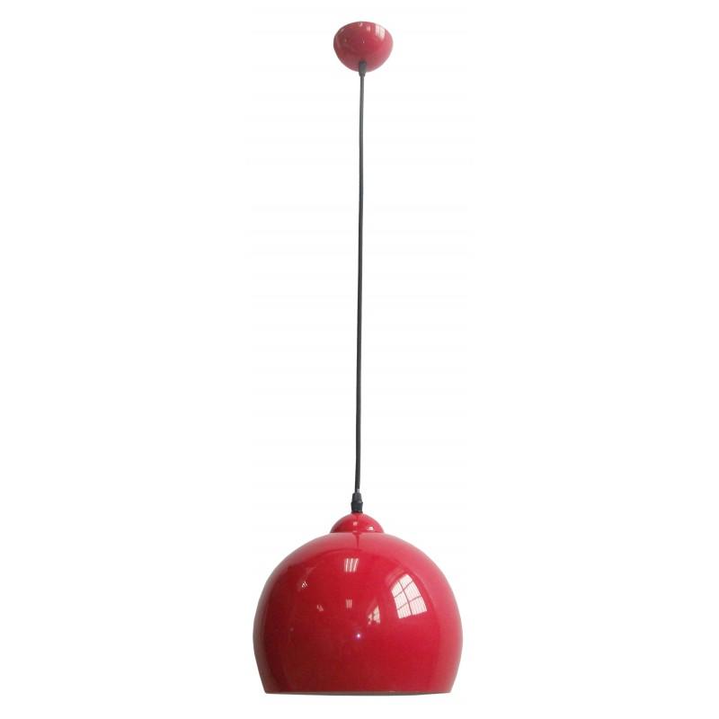 Lampy-sufitowe - lampa wisząca do kuchni czerwony połysk student 31-96640 candellux firmy Candellux