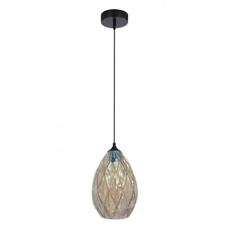 Lampy-sufitowe - złota lampa wisząca o transparentnym kloszu 19 1x60w e27 gran 31-51455 candellux firmy Candellux