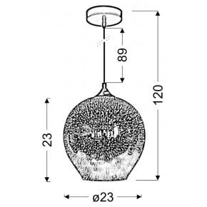 Lampy-sufitowe - lampa wisząca 23 z efektem 3d 1x60w e27 galactic 2 31-51295 candellux