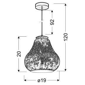 Lampy-sufitowe - lampa wisząca 19 z zjawiskowym efektem 1x60w e27 galactic 4 31-56108 candellux